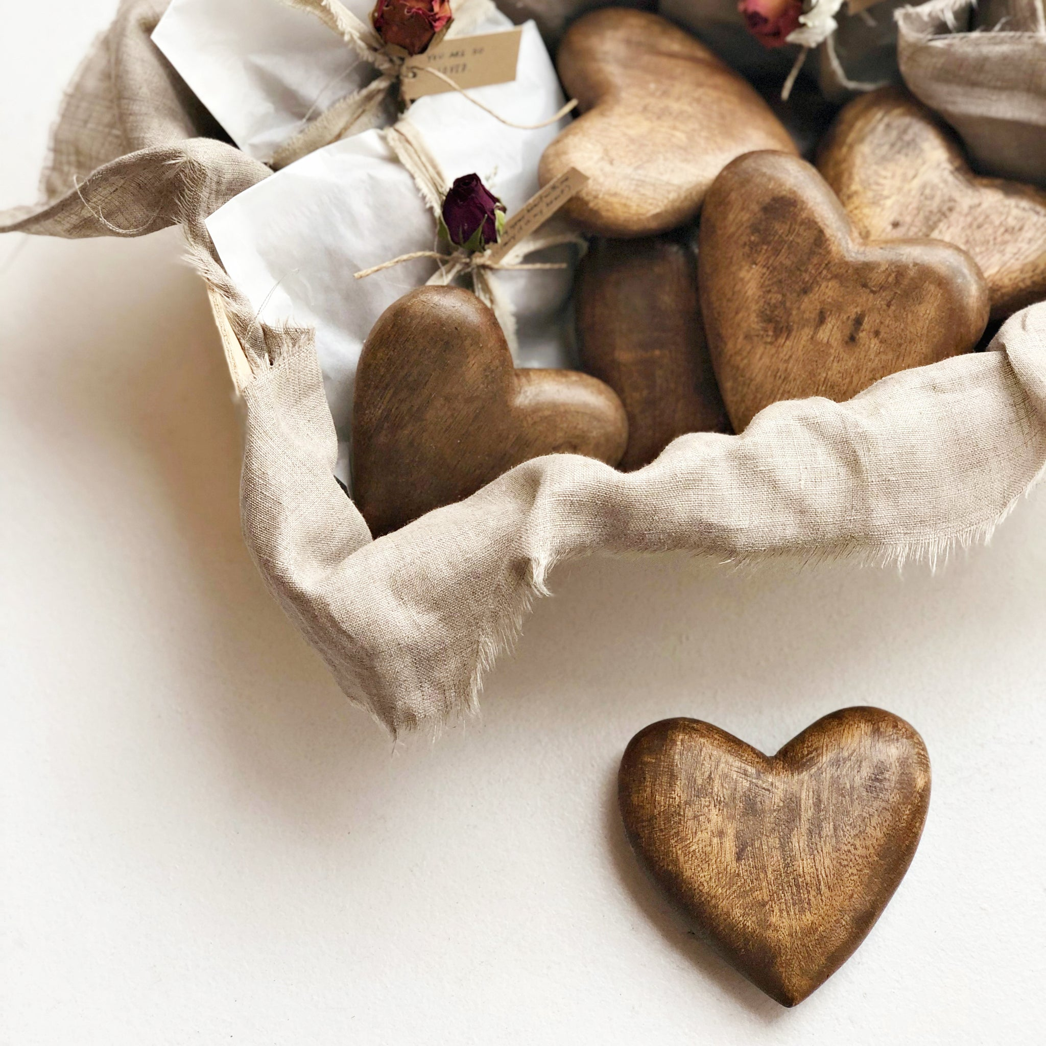 HANDCARVED WOODEN HEART