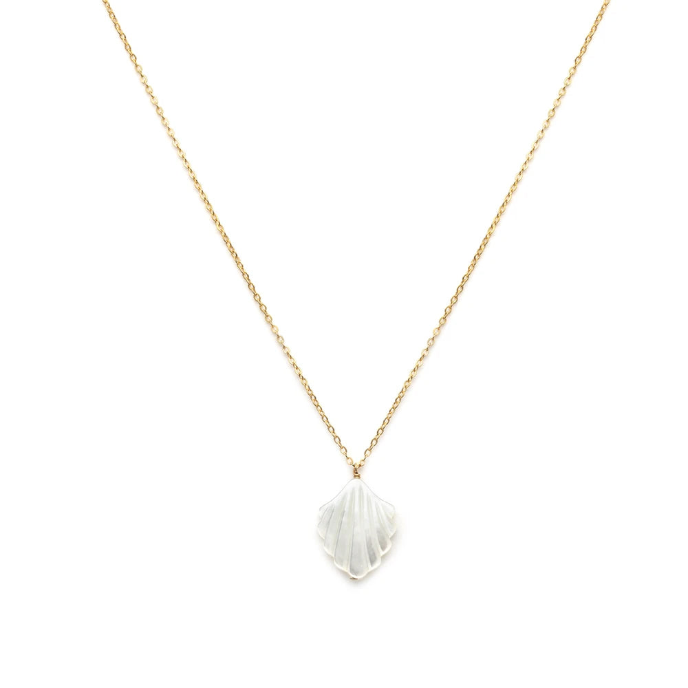 Leah Alexandra Coquille Necklace