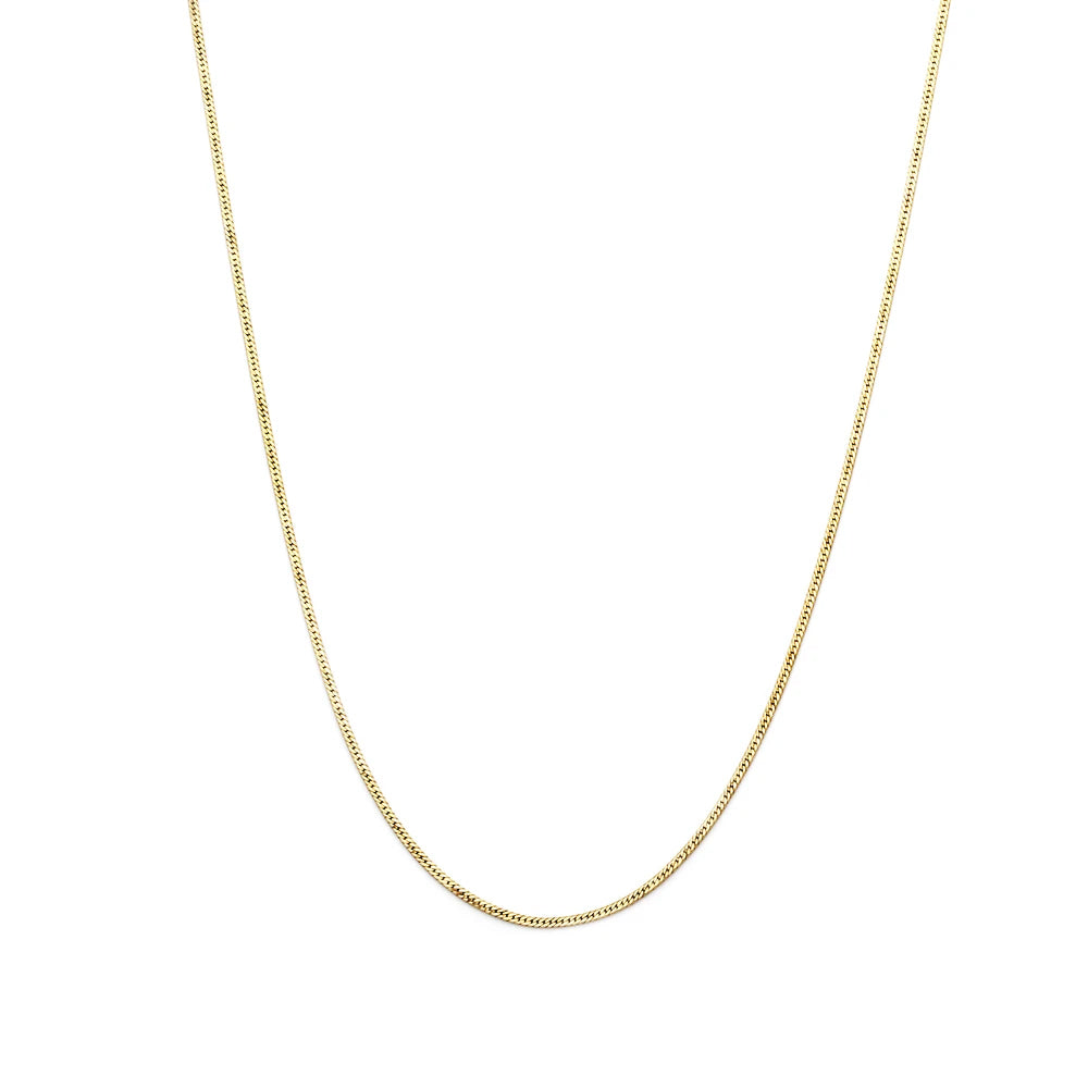 Leah Alexandra Herringbone Chain Necklace