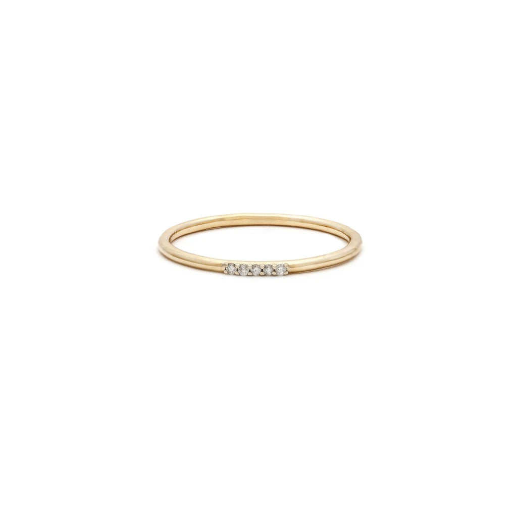 Leah Alexandra 14K Cinque Ring with Diamonds