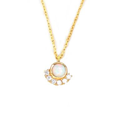 LA KAISER OPAL & DIAMOND PARISIAN SUNSET PENDANT