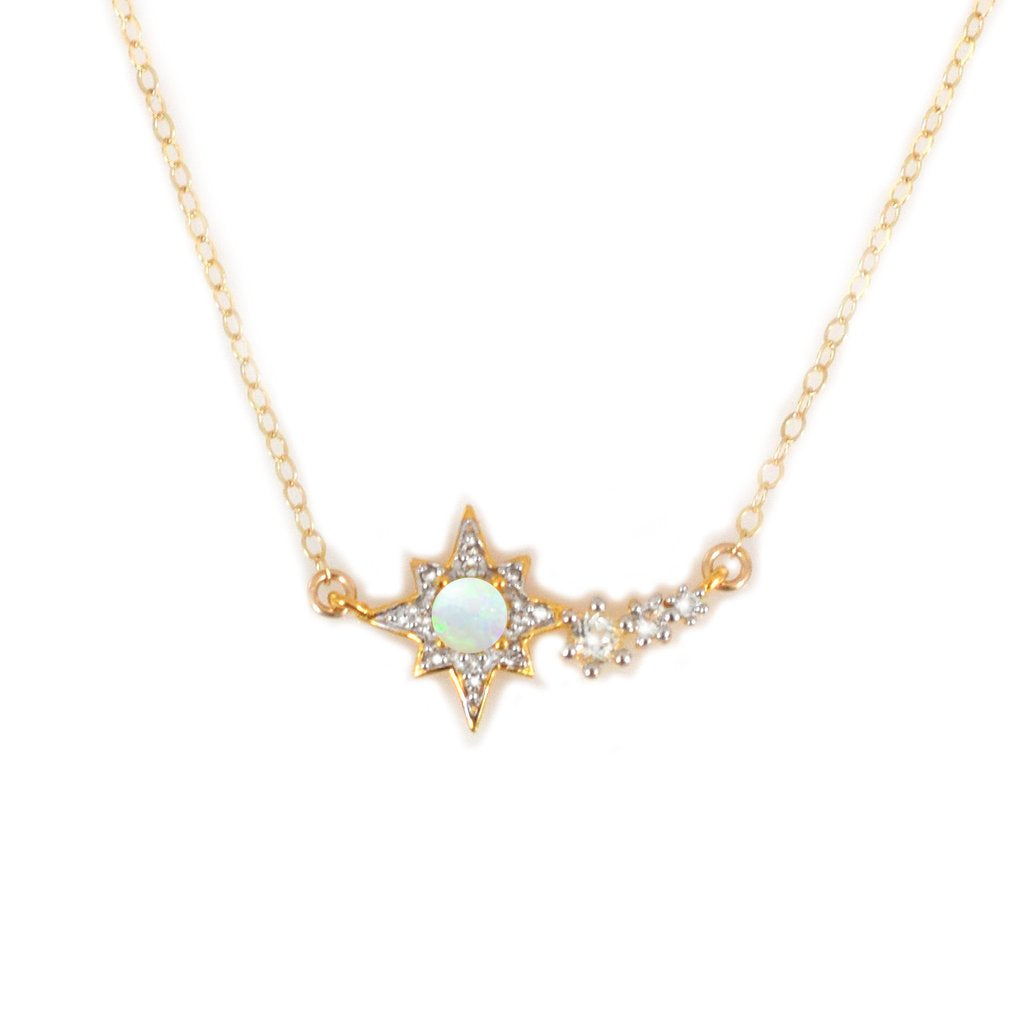LA KAISER OPAL AND TOPAZ SHOOTING STAR PENDANT