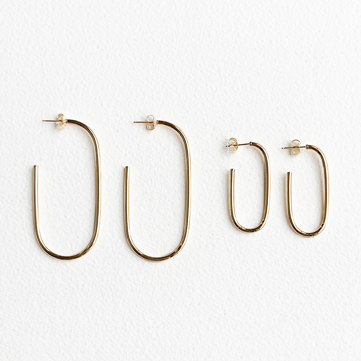 Sabine Oval Hoops in 14k Gold