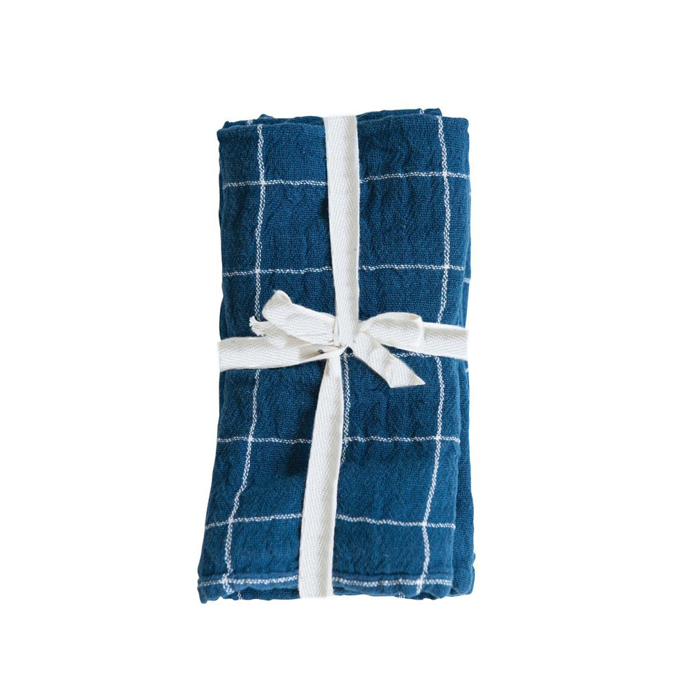 HYGGE NAPKIN SET - TILE BLUE