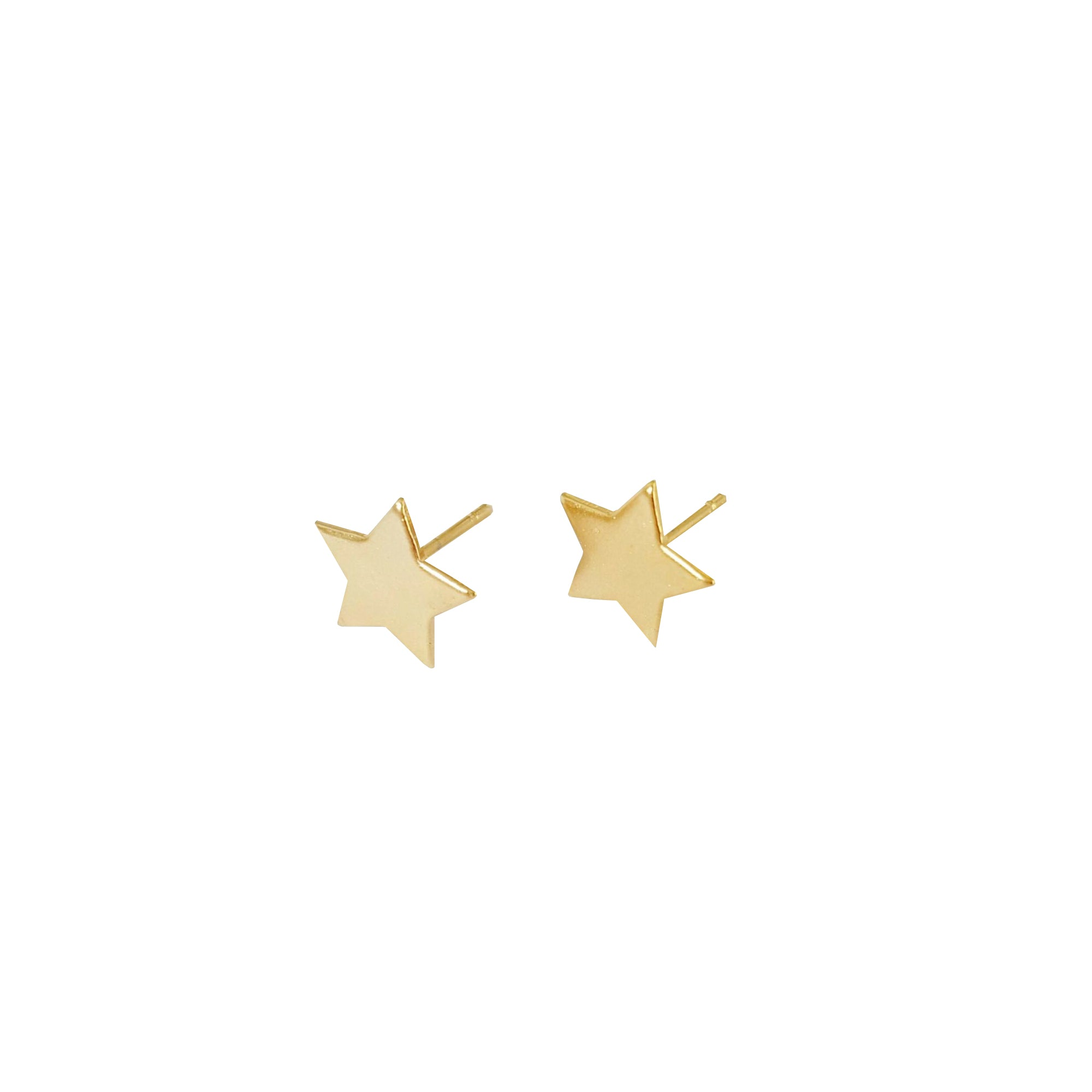 14k Gold Twinkle Tiny Star Stud