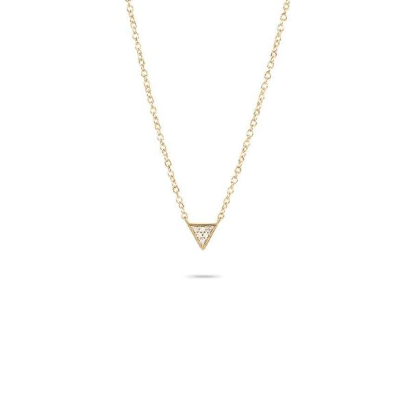 ADINA REYTER SUPER TINY SOLID PAVE TRIANGLE NECKLACE