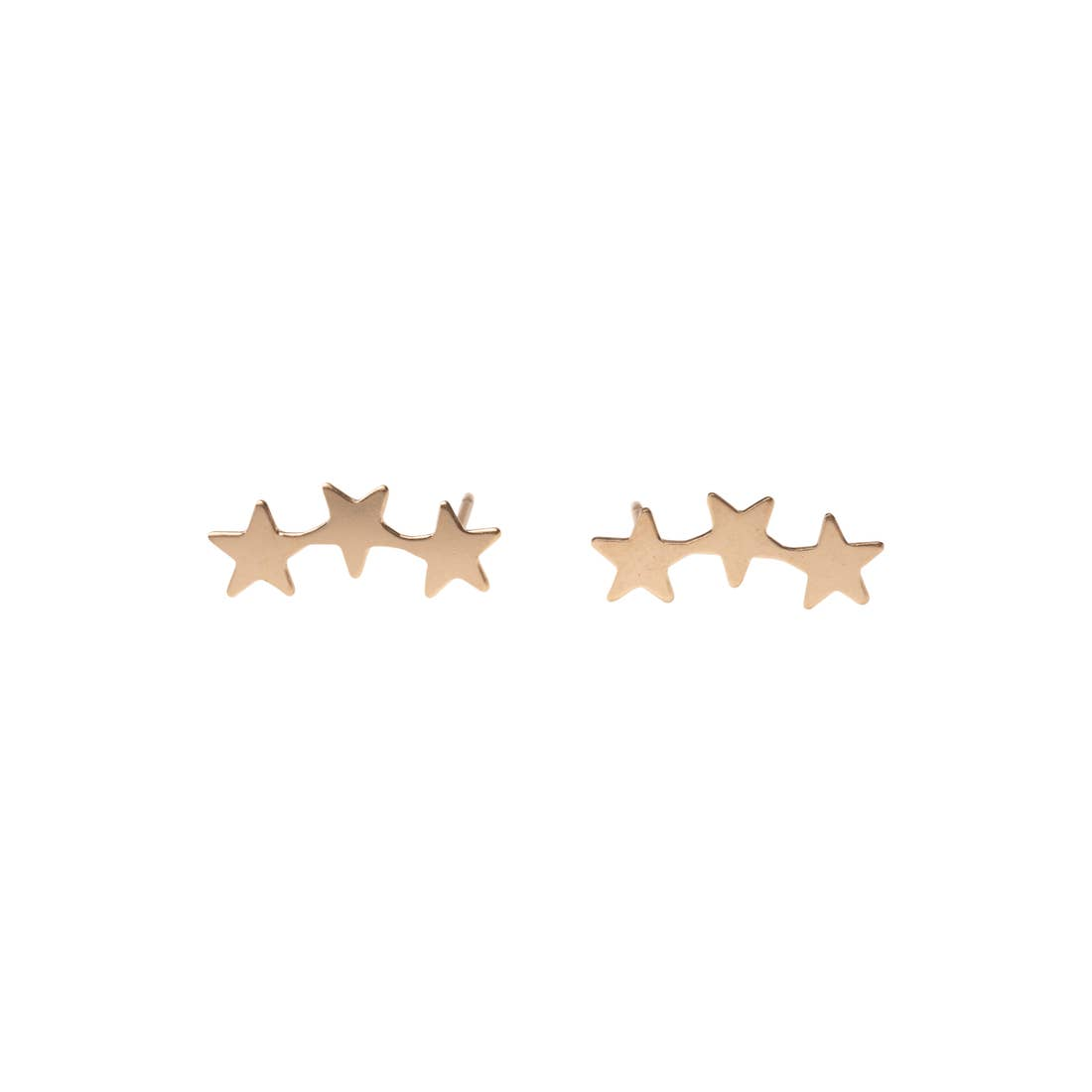 Golden Tri-Star Studs