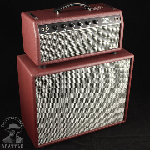 "Fromel Hawthrone Reverb Head and 1x12"" Cabinet in Red"