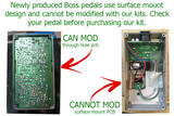Boss GE-7B Bass Equalizer Modifications