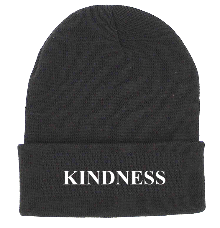 KINDNESS Charcoal Cuffed Knit Beanie | Be Inspired