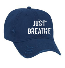 JUST BREATHE Unisex Distressed Baseball Cap | Be Inspired