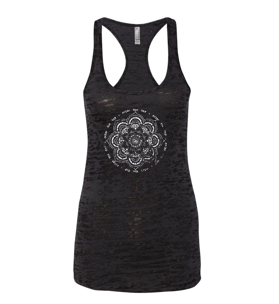 SEIZE THE DAY Burnout Racerback Tank | Inspirational Fashion