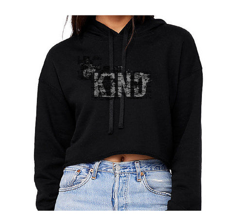 BE KIND Cropped Fleece Hoodie Sweatshirt | Inspiration