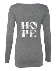 HOPE Scoop Neck Long Sleeve T-Shirt | Inspirational Fashion