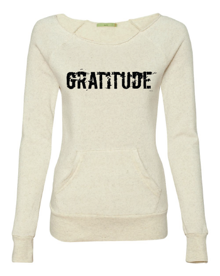 GRATITUDE Maniac Fleece Long Sleeve Sweatshirt | Inspirational Fashion