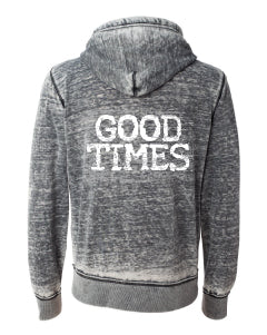 GOOD TIMES Zip Front Vintage Sweatshirt | Inspiration