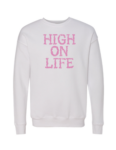 HIGH ON LIFE Unisex Drop Shoulder Sweatshirt | Inspirational Fashion