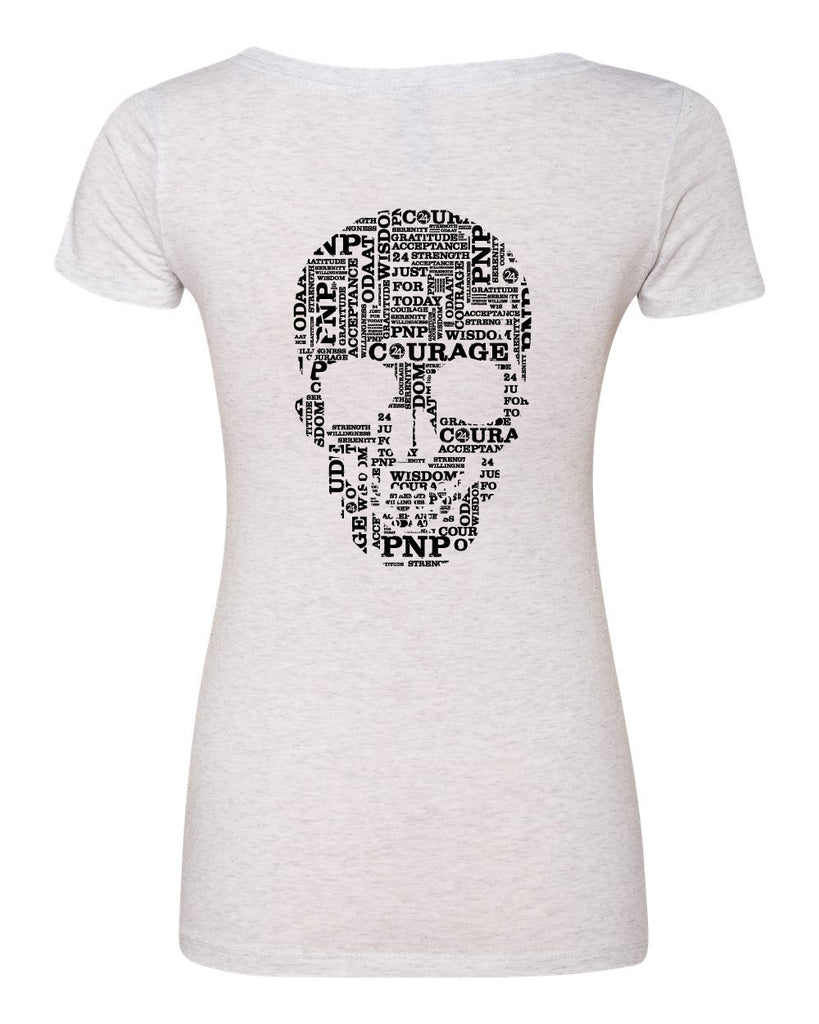 SKULL Scoop Neck Tee | Inspirational Fashion