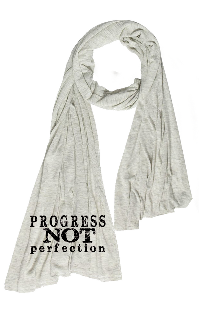 Oversized Scarf Progress Not Perfection  | Oatmeal Heather