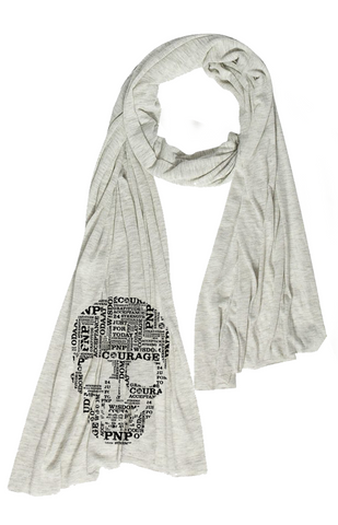 Skull Scarf  Oatmeal Heather   | Wrap yourself in Recovery