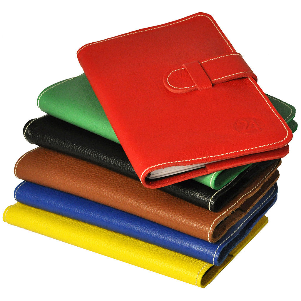 leather embossed bright colored sobriety journals