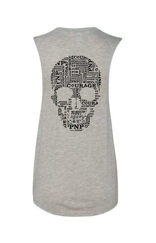 SKULL Flowy Scoop Neck Tank  | Inspirational Fashion