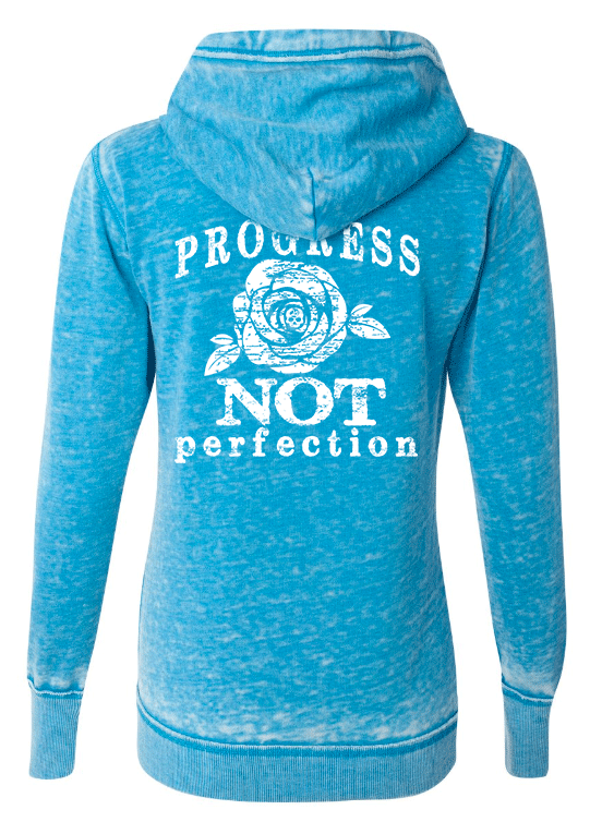 PROGRESS NOT PERFECTION ROSE Women's Pullover Vintage Sweatshirt | Be Inspired