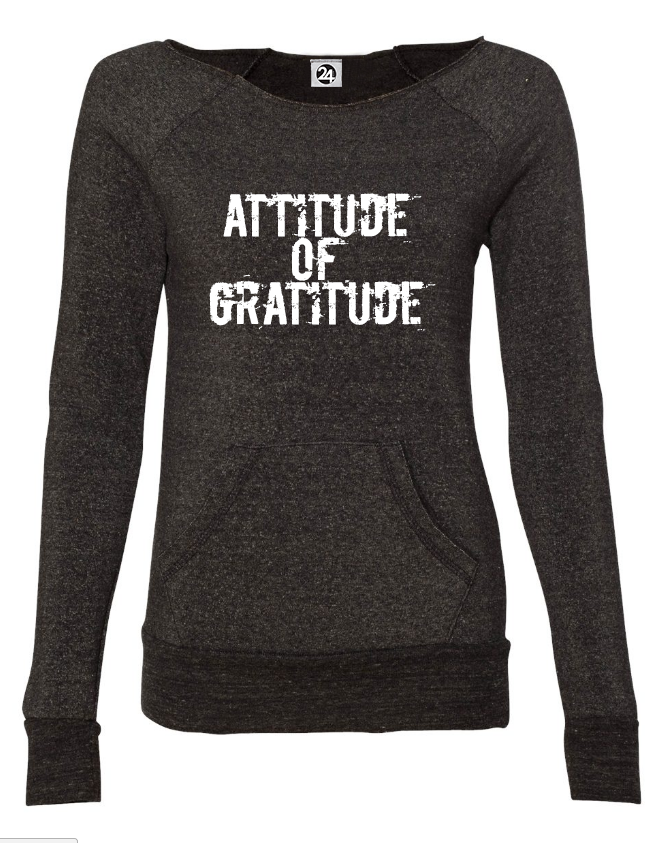 ATTITUDE of GRATITUDE Maniac Fleece Long Sleeve Sweatshirt | Inspirational Fashion