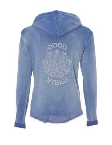 GOOD VIBES Mandala Womens Angel Fleece Nora Pullover Sweatshirt | Inspiration