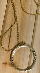 Serenity Circle Necklace/ Ball Chain | Serenity Circle