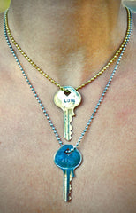 Key to Inspiration| Hand-Stamped Necklace-Small