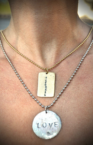 "Dog Tag Necklace / 36"" Ball Chain 