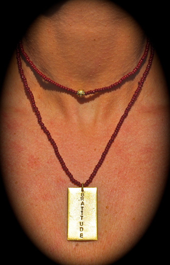 Seed Bead RECTANGLE Necklace | Inspiration Gift