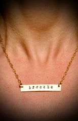 "16"" Large Nameplate Necklace 
