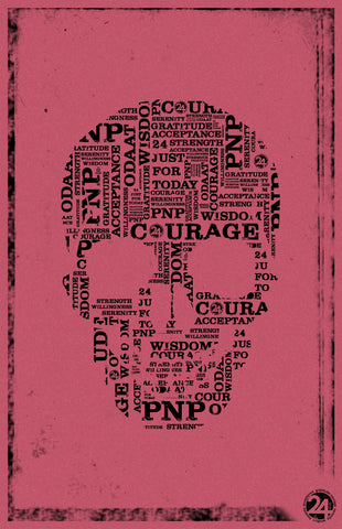 Skull Poster | Pink & Black  | Recovery Gift