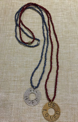 Seed Bead WASHER Necklace | Inspirational Gift