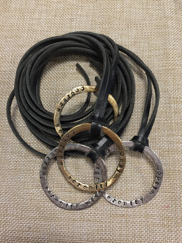 Serenity Circle Necklace / Leather | Serenity Circle