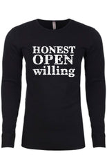 Honest Open Willing Thermal long-sleeve Unisex T-shirt for Men | Black