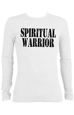 Spiritual Warrior Thermal long-sleeve Unisex T-shirt for Men | White