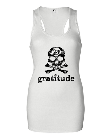 GRATITUDE Women's Bold Ribbed Tank | Inspirational Fashion
