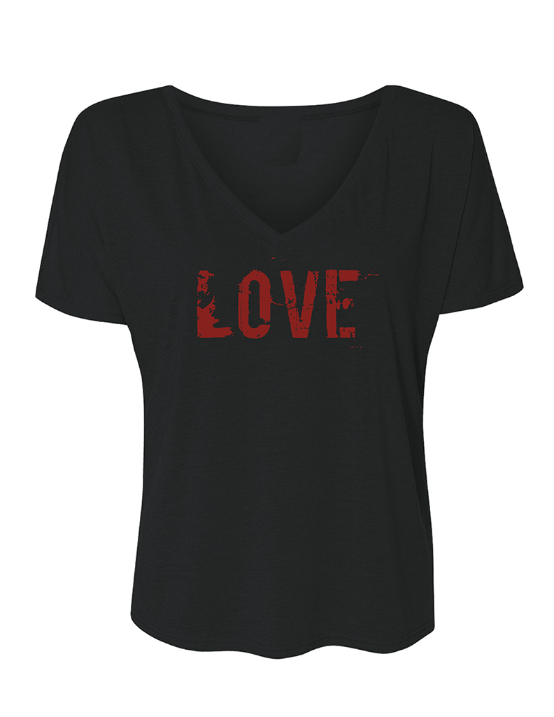 LOVE Slouchy V-Neck T-Shirt | Inspirational Fashion