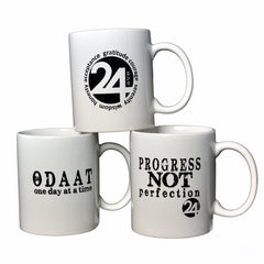 Ceramic Mug - 24ave Logo  | Recovery and Sobriety Gift