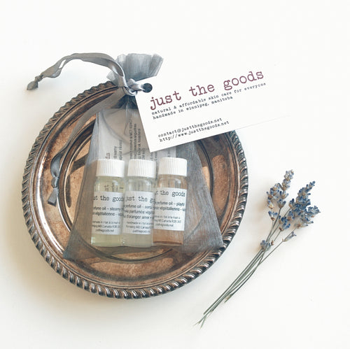 Just the Goods vegan perfume oil gift set - just the goods handmade vegan crueltyfree nontoxic skincare