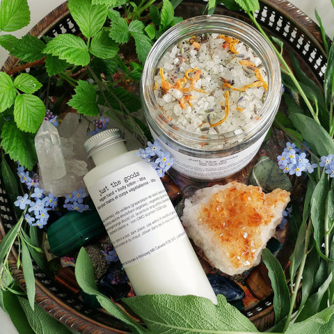 Just the Goods Summer Solstice / Litha bath and lotion set - just the goods handmade vegan crueltyfree nontoxic skincare