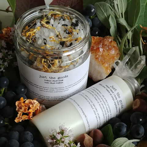 Just the Goods Autumn Equinox / Mabon bath and lotion set - just the goods handmade vegan crueltyfree nontoxic skincare
