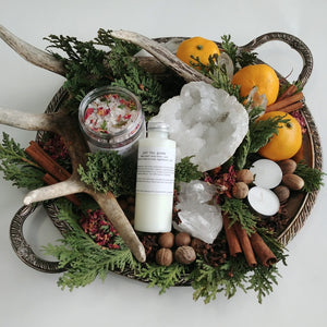 Just the Goods Winter Solstice / Yule bath and lotion set - just the goods handmade vegan crueltyfree nontoxic skincare