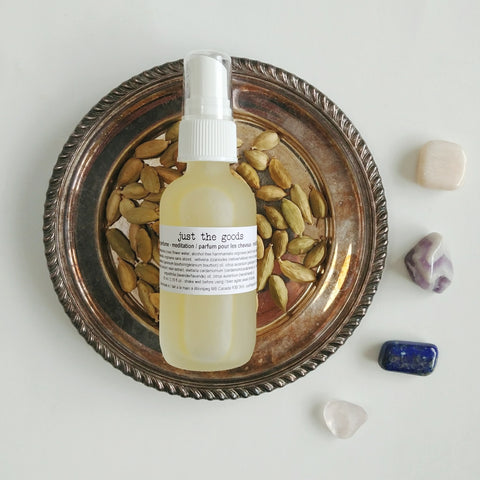 limited edition hair perfume - meditation - just the goods handmade vegan crueltyfree nontoxic skincare