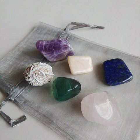 Gemstone Collection - Meditation - just the goods handmade vegan crueltyfree nontoxic skincare