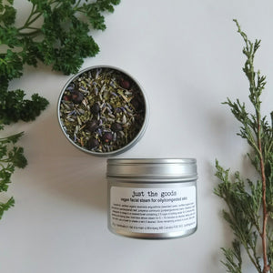 Just the Goods facial steam for oily/congested skin - just the goods handmade vegan crueltyfree nontoxic skincare