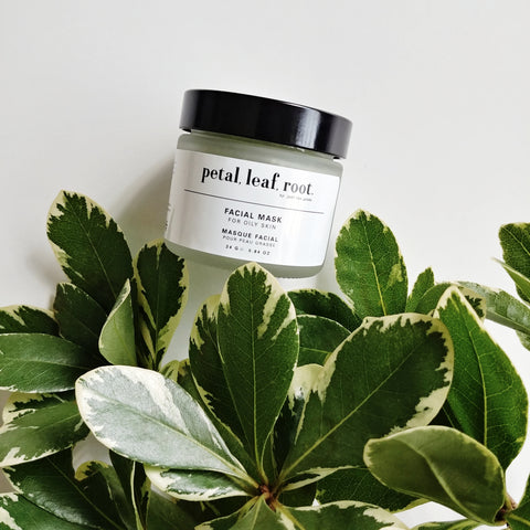 petal, leaf, root. by Just the Goods face mask for oily skin